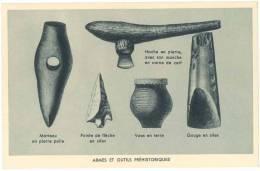CPA ARCHEOLOGIE - ARMES ET OUTILS PREHISTORIQUES - Belle-Arti
