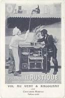 Cpa Pub Fourneau Le Rustique, La Marque Odelin, Par Chocarne-Moreau  ( Ramoneur )     (PUB) - Advertising