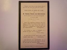 FAIRE-PART De Décès De  Marie-Henri De  BOISSAC  Décédé à Bordeaux  1902   XXX - Décès