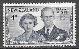 1953 Royal Visit, 4d, Used - New Zealand