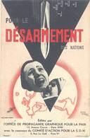 Cpa Pub Pour Le Désarmement Des Nations, Signée Jean Carlu       (PUB) - Pubblicitari
