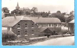 Monceau-en-Ardenne (Bièvre-Prov.Namur)-+/-1960-Les Ecoles-Eglise En Arrière Plan-Edit.Henry Alimentation,Monceau - Bièvre