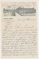 Factuur / Brief Paris 1913 - Palais D'Orsay - Grand Hotel - Frankrijk