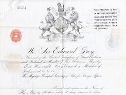 1910 England; Reisepass; Von London Travelling To Smyrna; Mit Türkischen Fiskalmarken - Cachets Généralité