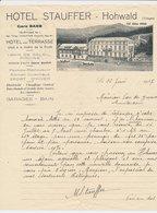 Factuur / Brief Hohwald 1937 - Hotel Stauffer - 1900 – 1949
