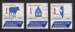 Nederlands - Nederlande Iconen Internationaal - Koe/trapgevel/tulp - Gebruikt - NVPH 3152/3153/3154 - Periode 2013-... (Willem-Alexander)