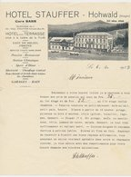Factuur / Brief Hohwald 1937 - Hotel Stauffer - France