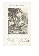 Cpa - Illustration LE LION Et L'ANE Chassant - Sanglier - - Contes, Fables & Légendes