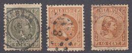 INDIE OLANDESI - NEDERL INDIE - Tre Valori Obliterati: Yvert 3, 8 E 23. - Indes Néerlandaises