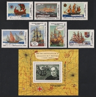 Madagaskar 1991 - Mi-Nr. 1316-1322 & Block 165 ** - MNH - Schiffe / Ships - Madagascar (1960-...)