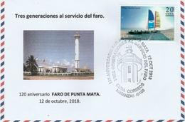 Cuba - 2018 - Lighthouse De Punta Maya Cancel - 120 Years - On Private Made Cover - Lighthouses