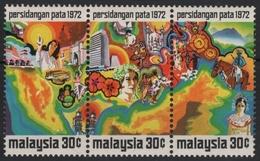 Malaysia 1971 - Mi-Nr. 94-96 ** - MNH - Tourismus - Malaysia (1964-...)
