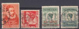 INDIE OLANDESI - NEDERL INDIE - Quattro Valori Obliterati: Yvert 128, 129, 169 E 170 - Indes Néerlandaises