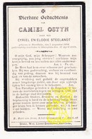 DP Camiel Ostyn / Steelandt * 20j. * ° Harelbeke 1898 † Stasegem 1919 - Devotion Images