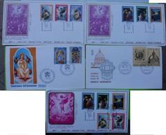 5 X FDC Vaticano - Anno 1972; 1976; 1977 - FDC