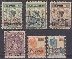 INDIE OLANDESI - NEDERL INDIE - Sei Valori Obliterati: Yvert 124, 127, 128, 129, 130 E 160. - Indes Néerlandaises