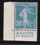 PUBLICITE: SEMEUSE 30C BLEU SAVON DE BEAUTE ACCP 127 BAS NEUFS** - Advertising