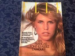 ELLE FRANCE Rivista Magazine 27 Luglio 1981 N.1855 Hernest Hemingway - Books, Magazines, Comics