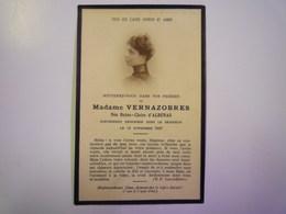 FAIRE-PART De Décès De  Mme  VERNAZOBRES  Née Reine-Claire D'ALBENAS   1927   XXX - Décès