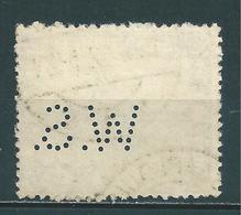 Saar MiNr. 86 Perfins Firmenlochung WS (sab10) - 1920-35 League Of Nations