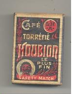 """Boîte D'allumettes Avec Publicité """" Café Torréfié HOUBION Le Plus Fin """" Avec Tiroir Mais Sans Allumettes - Safety Match - Boites D'allumettes"""