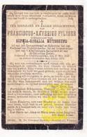 DP Gemeenteraadslid Franciscus X. Pylyser ° Oostduinkerke Koksijde 1839 † 1905 X Sophia R. Huysseune - Devotion Images