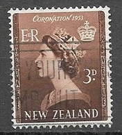 1953 Queen Elizabeth, Coronation, Used - New Zealand