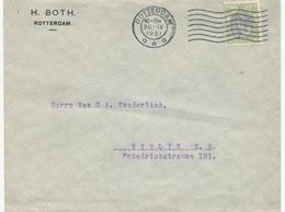 170/28 - Lettre TP Wilhelmina 20 Cent ROTTERDAM 1921 Vers BERLIN - 75 Gld Op Brief - 1891-1948 (Wilhelmine)