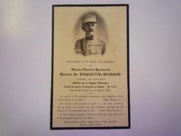 FAIRE-PART De Décès De  Marie-Pierre-Bernard  BARON  De  ROQUETTE-BUISSON   1931   XXX - Décès