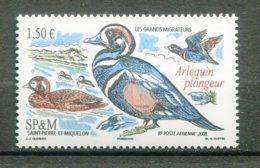 10792 SAINT-PIERRE Et MIQUELON  PA88 ** 1€50  Les Grands Migrateurs : Arlequin Plongeur  2008 TTB - Aéreo