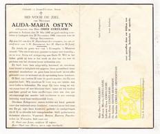 DP Alida M. Ostyn ° Ardooie 1890 † Ledegem 1948 X Omer Cokelaere / Remmery DePoortere - Devotion Images