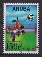 Aruba - Wereldkampioenschappen Voetbal In De Verenigde Staten - Mascotte Geeft Kopbal - Gebruikt - NVPH 143 - Curaçao, Nederlandse Antillen, Aruba