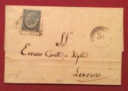 PONTREMOLI D.c. 15/9/66  +punti Su 20/15 C. Tipo 3  LETTERA COMPLETA DI TESTO CON AL RETRO AMBULANTE + PISA +  LIVORNO - Storia Postale