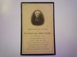 FAIRE-PART De Décès Du Chanoine  Jea-Baptiste  HILLEREAU  Né à VIEILLEVIGNE  En 1837   XXX - Décès