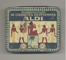 """Boîte De Cigarettes Métallique ( VIDE) """"ALDI"""" Manufacture De Cigarettes égyptiennes - Etuis à Cigarettes Vides"""