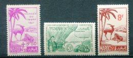10801  MAROC  N° 244,245,270 ** Journée Du Timbre 1947, Exploitations Des Phosphates    1947-48  TB/TTB - Marruecos (1891-1956)