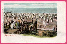 Borkum - Strand - Plage - Mer - Animée - Marin - Verlag W. SCHWALBE - LOUIS GLASER - Borkum