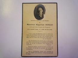 FAIRE-PART De Décès De  Hippolyte  BUREAU   1942   XXX - Décès