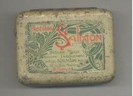 """Boîte  (vide) Métallique - Pastilles Pour La Toux """" SALMON """" à MELUN - Boîtes"""
