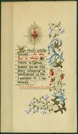 SANTINO - CV931 IMMAGINI RELIGIOSE SANTINI DIPINTI A MANO Pergamena Con Testo E Splendida Decorazione - Devotion Images
