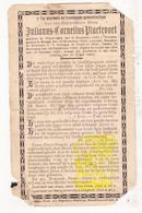 DP EH Pastoor Julianus C. Plaetevoet ° Poperinge 1838 † Heist Aan Zee Knokke-Heist 1904 / Brugge Tielt Bulskamp Veurne - Devotion Images