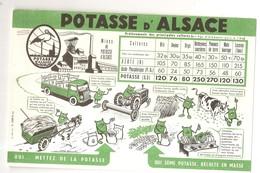 Buvard LA POTASSE D'ALSACE Mines De Potasse D'Alsace - Agriculture