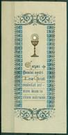 SANTINO - CV932 IMMAGINI RELIGIOSE SANTINI DIPINTI A MANO Pergamena Con Testo E Splendida Decorazione, Ottime Condizioni - Devotion Images