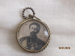 Ethiopia: Medaillon Haile Selassie Silver Jubilee... Czechoslovak Exhibition 1955 - Royal / Of Nobility