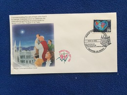 United States FDC Commemoration Of John Paul II's Visit To Denver On World Youth Day, 8/13/93 Papal Cover - Ersttagsbelege (FDC)
