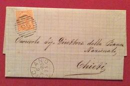 LANCIANO 6/7/80 + Barre Su 20c.   LETTERA COMPLETA DI TESTO PER CHIETI VIA PESCARA - 1878-00 Umberto I