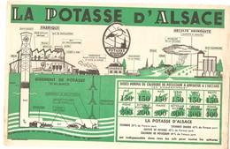 Buvard LA POTASSE D'ALSACE Fabrique Et Récolte Abondante - Agriculture