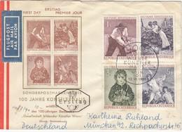 ÖSTERREICH 1961 - MiNr: 1087-1090  FDC Gelaufen - FDC