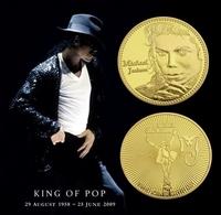 1 Pièce Plaquée OR ( GOLD Plated Coin ) - Michael Jackson ( Ref 1 ) - Monnaies