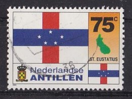 Nederlandse Antillen - Vlag - St. Eustatius - Gebruikt - NVPH 1093 - Postzegels